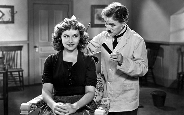 Photo by Everett Collection / Rex Features (501896i)  'THE GREAT DICTATOR', Paulette Goddard, Charlie Chaplin - 1940 CHARLIE CHAPLIN